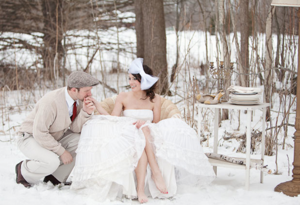 Snow wedding hires