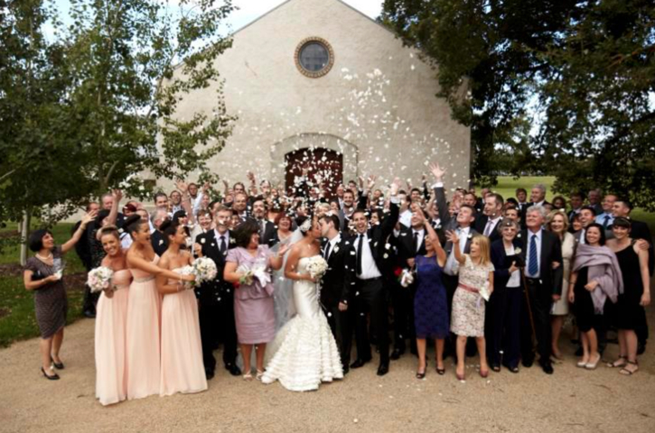 Our lovely couple's wedding at Stones of the Yarra Valley