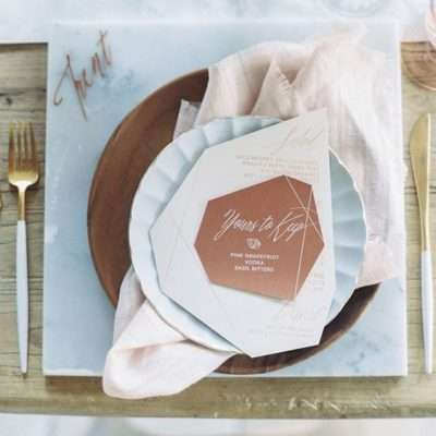 Creative Wedding Menu Designs