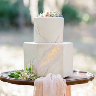 Hexagonal Wedding Cakes