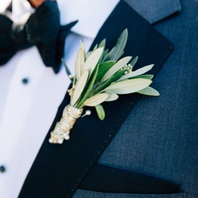 Greenery Buttonholes For The Groom