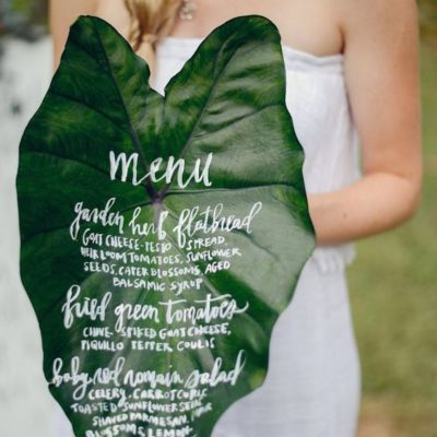 Wedding Menus That Are Far Beyond Ordinary
